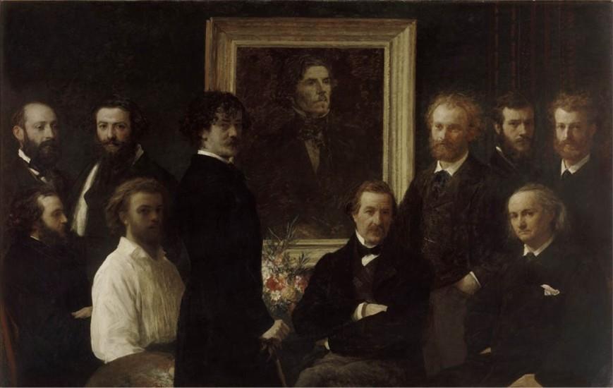 Henri Fantin-Latour - Hommage à Delacroix (1864).