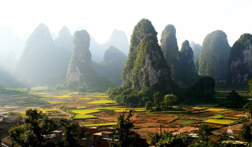 n June 11, 2013 shows the scenery of karst landform in Shibing County, southwest China's Guizhou Province.jpg