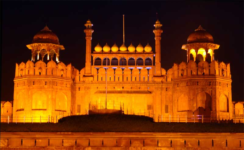 Red-Fort-Night-View