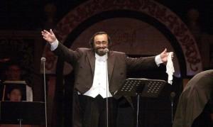 Italian tenor Luciano Pavarotti