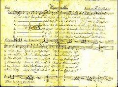 mohrscript το χειρόγραφο του Μohr για το άσμα Αγια Νύχτα