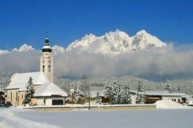 The Church of At.Nicholas in Oberndorf, Austria