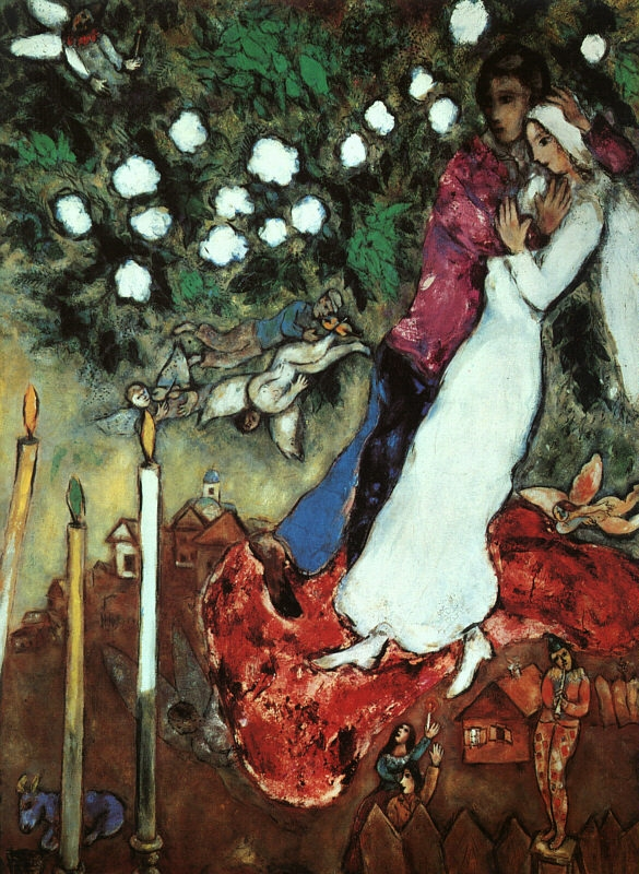 The Three Candles by Marc Chagall