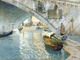 Under the Rialto Bridge of Venice, 1885