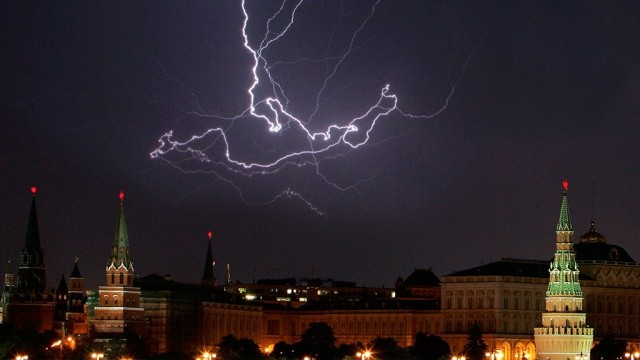 lightning on Moscow