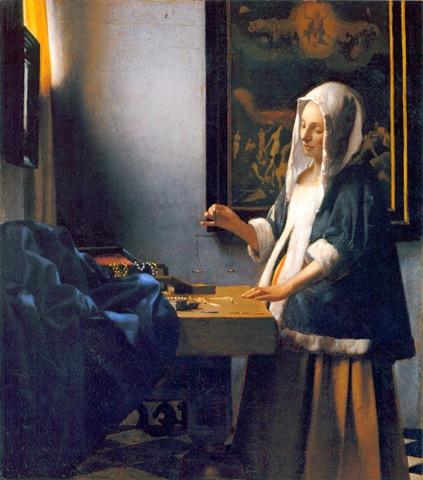 Woman Holding a Balance, Vermeer