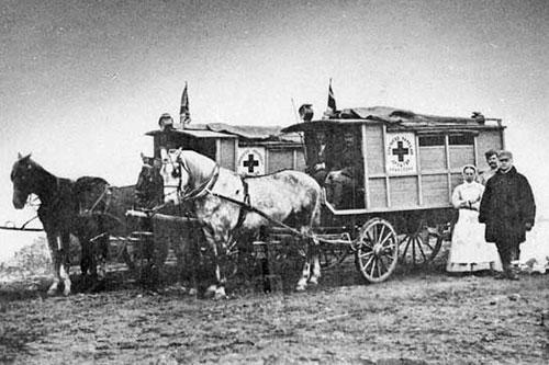 Serbian-Turkish War, 1878. Serbian ambulance.
