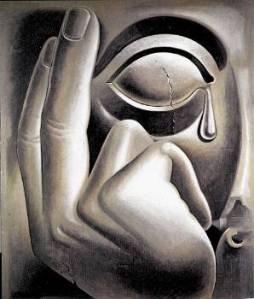 Σαράντης Καραβούζης , Ραγισμένο μάτι αγάλματος