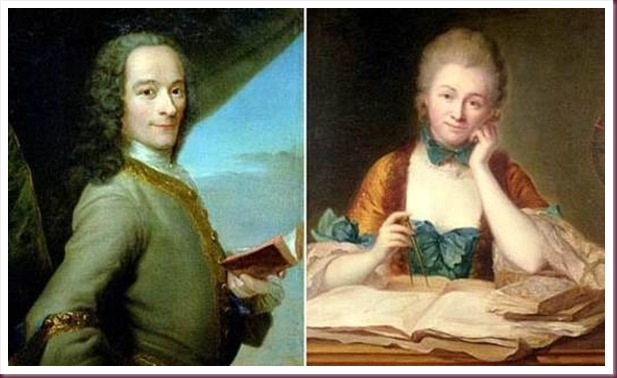 Emilie du Chatelet και Βολταίρος