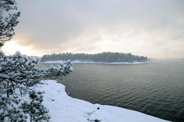 χιονισμενο νησί της Σουηδίας