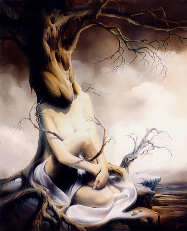 γυναίκα δένδρο