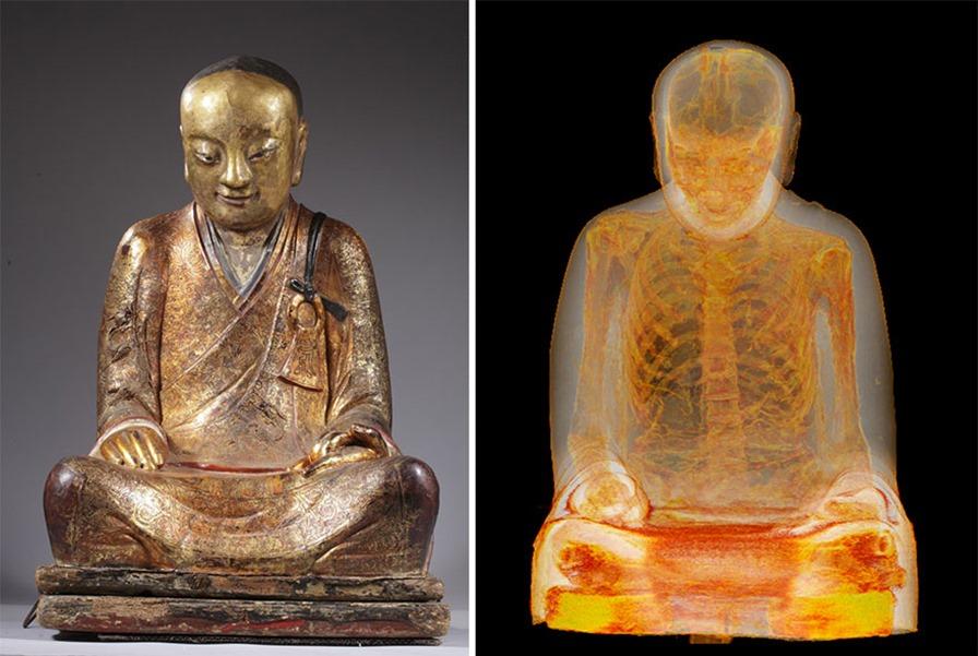 ancient-chinese-buddhist-mummy-inside-statue-ct-scan-liuquan-1