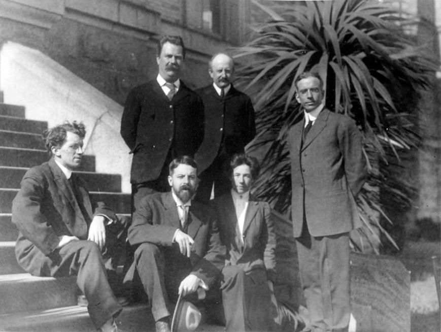 Nels C. Nelson, Kroeber, Ethel G. Field, Arthur Poyser, Arthur Warburton, Waterman