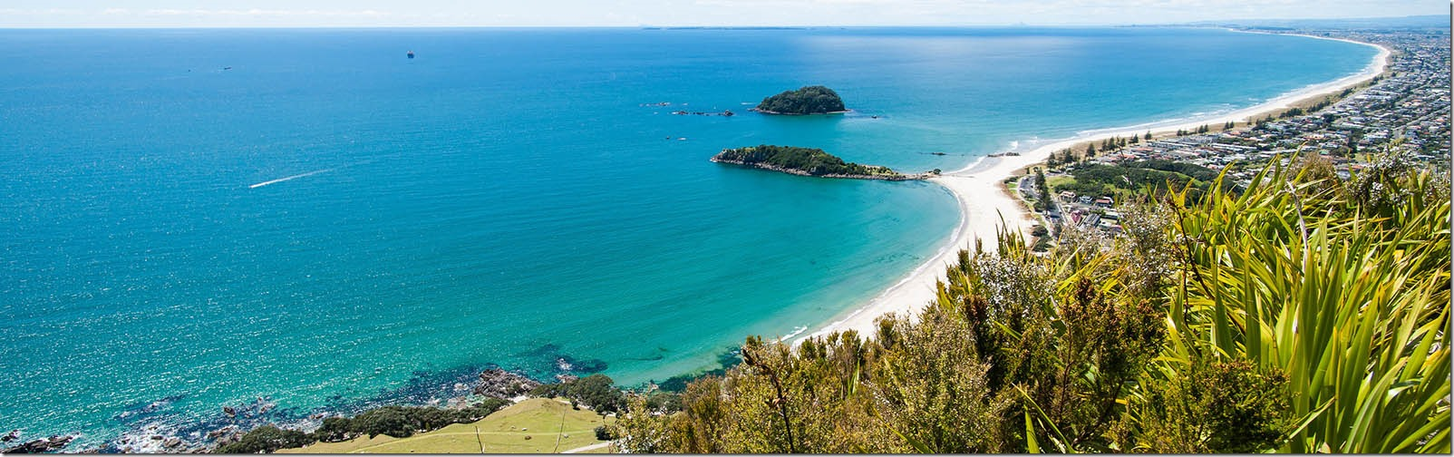 Bay of Plenty on New Zealand's eastern coast