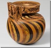 Πυγμαίοι εναντίον Γερανλών, Μελανόμορφος αρύβαλλος του Νέαρχου, περίπου 570 π.Χ. Νέα Υόρκη, Μητροπολιτικό Μουσείο