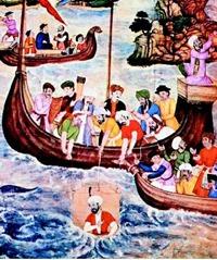 Αυτή η ζωγραφική του δέκατου έκτου αιώνα από την Ινδία παρουσιάζει τον Μέγα Αλέξανδρο (356-323 B.C.E.)