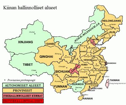 Kiinan_provinssit