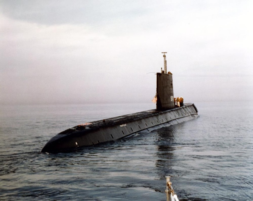 USS Nautilus (SSN-571), in Long Island Sound, off New London
