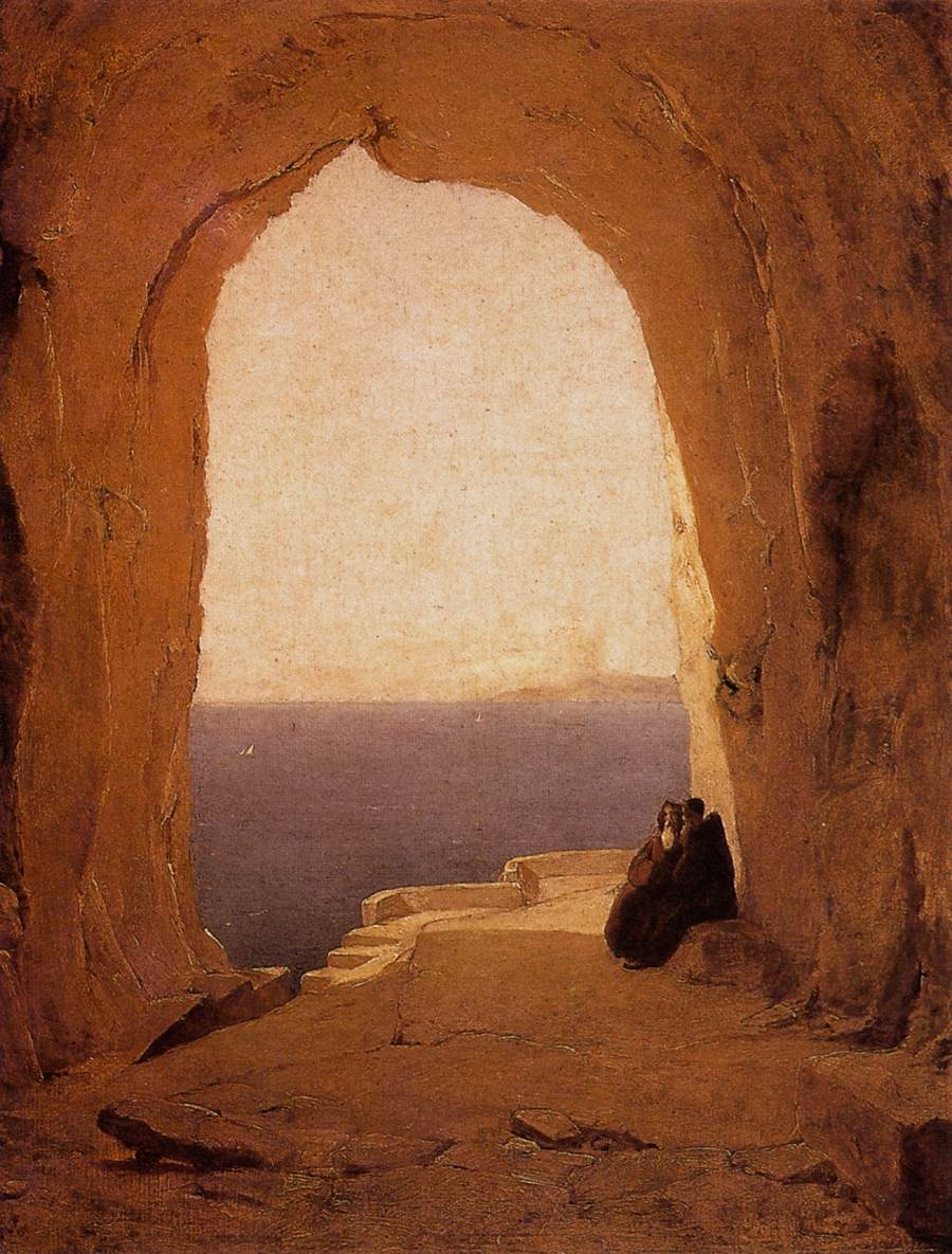 Karl  Blechen, grotto_in_the_gulf_of_naples-