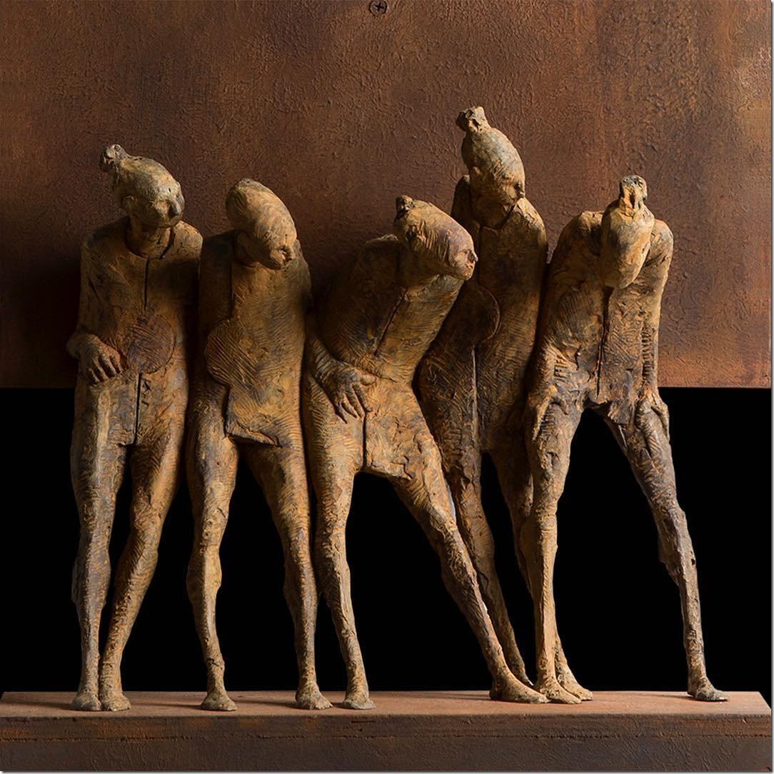 Max Leiva, 1966, Abstract Figurative sculptor