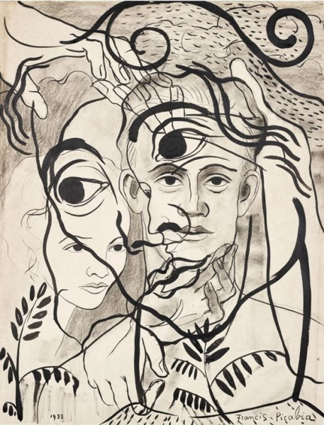 Francis Picabia (French, 1879-1953), Untitled, 1932. Ink and crayon on paper
