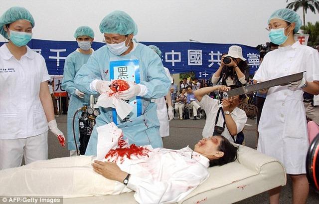 Κίνα, 2006 αφαίρεση οργάνων από ζωντανό ακόμη άνθρωπο.