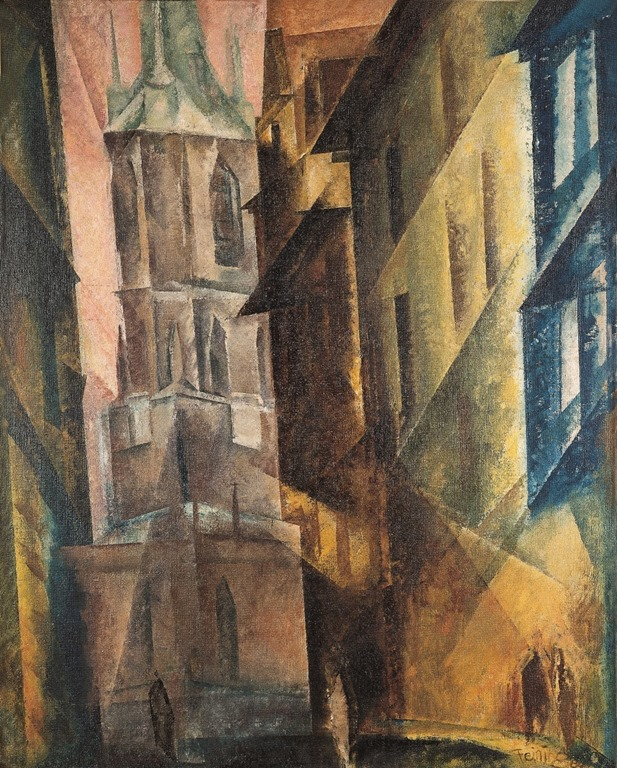 Lyonel-Feininger-Κόκκινο-Πύργο-II-Hall-1930.jpg