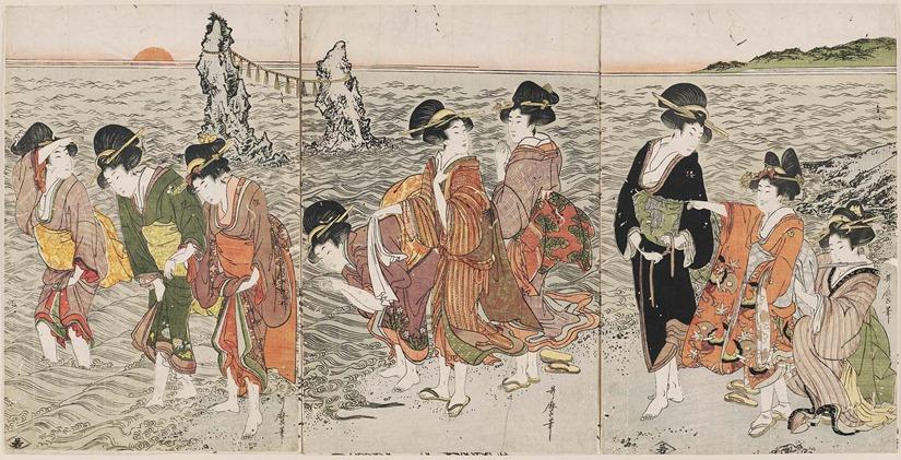 Women on the Beach at Futami-ga-ura