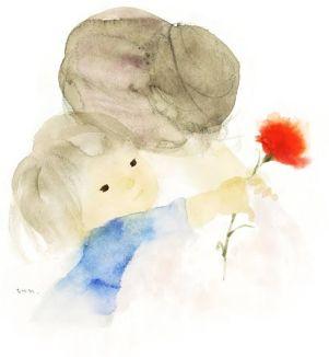 b4845733341e5by Chihiro Iwasaki, 1967 「子犬と雨の日の子供たち」