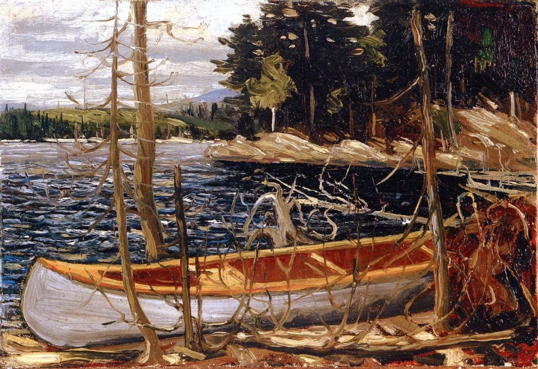 Tom Thomson (1877–1917), The Canoe (1912).jpeg
