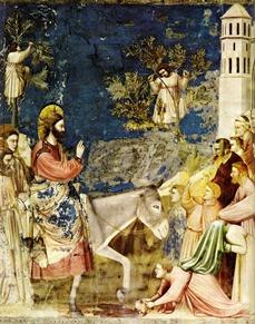 ChristEnteringJerusalembyGiotto.PalmSunday