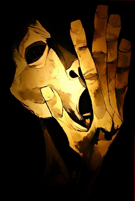 Oswaldo Guayasamin, Από τη σειρά Η εποχή της οργής- the Scream (1983).