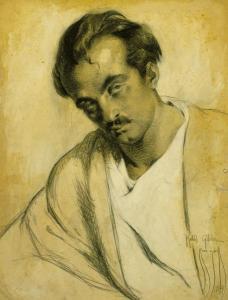 Rose Cecil O'Neill, Portrait of Kahlil Gibran, 1914