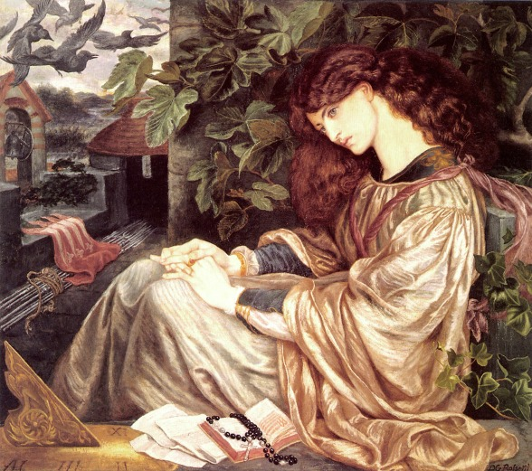 Dante Gabriel Rossetti, Pia de' Tolomei (1868–1880) (model Jane Morris), Spencer Museum of Art, University of Kansas, Lawrence, KS, USA.jpg