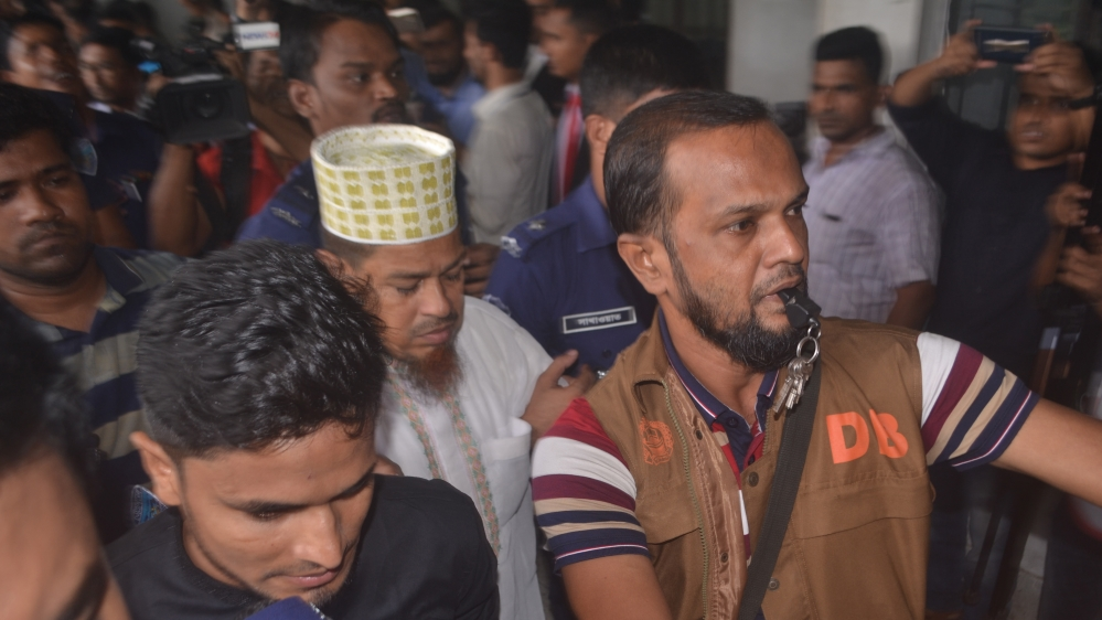 Siraj Ud Doula, (centre), denied charges of ordering Rafi's killing