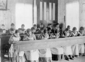 Study_period_at_Roman_Catholic_Indian_Residential_School,_Fort_Resolution,_NWT_(14112957392)